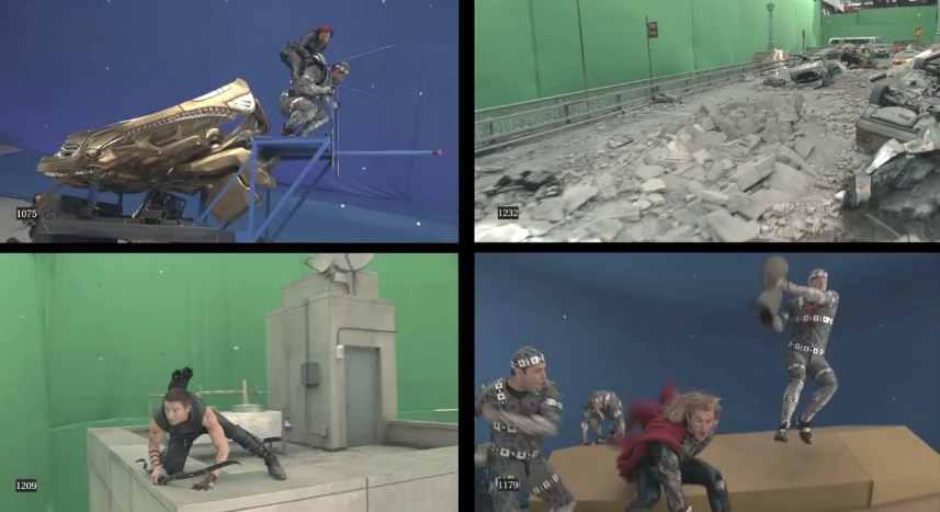Making of Avengers Scene